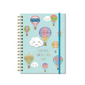 Caderno Colegial Nuvem e Balão 200 Folhas
