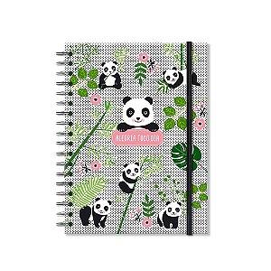 Caderno Colegial Panda 200 Folhas