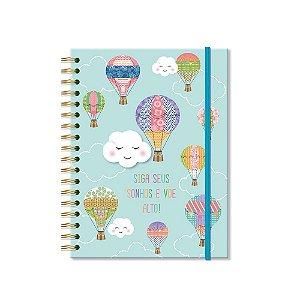 Caderno Colegial Nuvem e Balão 96 Folhas