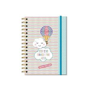 Caderno Pontilhado Nuvem e Balão