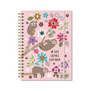 Caderno Universitário Bicho Preguiça 96 Folhas