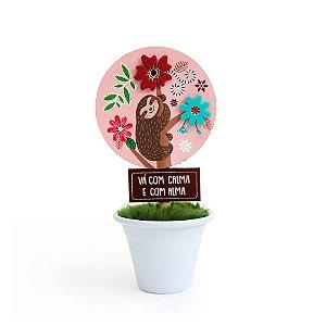 Mini Vaso Bicho-Preguiça
