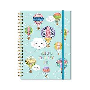 Caderno Universitário Nuvem e Balão 96 Folhas