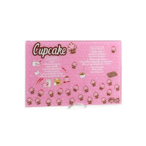 Tábua de Corte em Vidro Temperado Cupcake Pequena