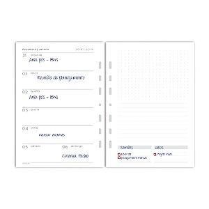 Refil Planner Fichário Médio Agenda com Data Maxi