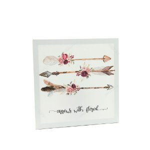 Quadro em Canvas Setas Arrows With Floral