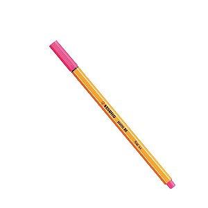 Caneta Stabilo Ponta Fina Point 88 Rosa Neon