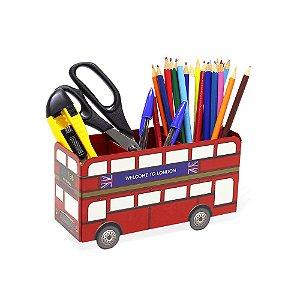 Porta-Lápis em Aço Ônibus Londres
