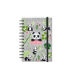 Caderno Médio Decorado com Aplique Panda