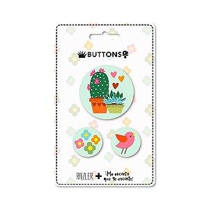 Kit 3 Buttons Jardim