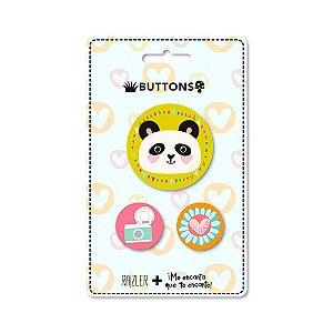 Kit 3 Buttons Panda