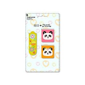 Conjunto Marcador de Páginas Panda