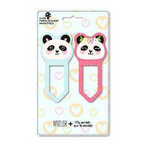 Clipes Porta Recados Magnético Panda