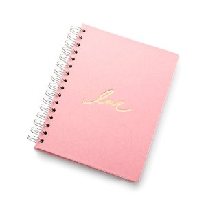 Planner Permanente Wire-o Pink Stone Love