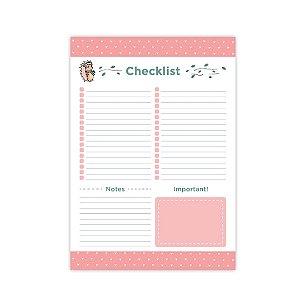 Bloco de Mesa Checklist Porco Espinho Riccio Médio