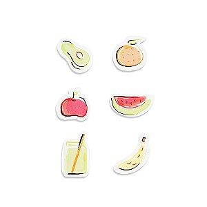 Imã Porta-Lembretes em Aço Frutas