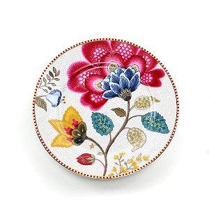 Prato de Pão Branco Floral Fantasy Pip Studio
