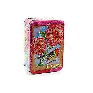 Caixa Retangular Pequena Floral de Lata Pip Studio