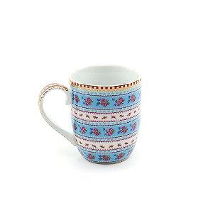 Caneca Pequena Ribbon Azul Floral Pip Studio