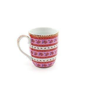 Caneca Pequena Ribbon Rosa Floral Pip Studio