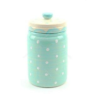 Pote em Porcelana Ornamental Azul
