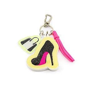 Chaveiro Estampado Com Espelho Make Up Sapato