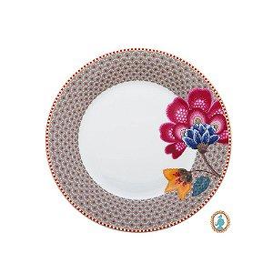 Prato de Sobremesa Cáqui Floral Fantasy Pip Studio