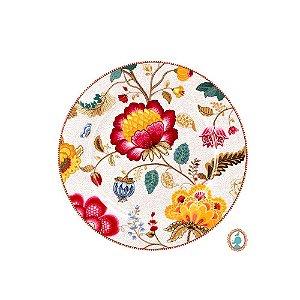 Prato Sousplat Branco Floral Fantasy Pip Studio