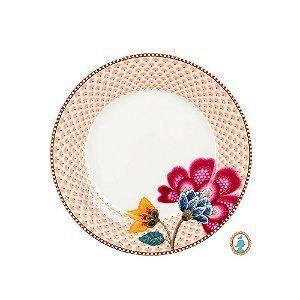 Prato de Sobremesa Branco Floral Fantasy Pip Studio