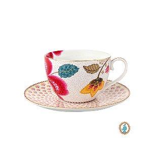 Xícara de Chá Branco Floral Fantasy Pip Studio