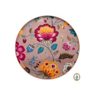 Prato para Bolo Cáqui Floral Fantasy Pip Studio