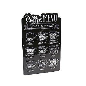 Placa de Alumínio Menu Café Expresso