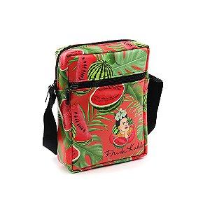 Bolsa Transversal Shoulder Bag Frida Kahlo Pitaia e Melancia Vermelha