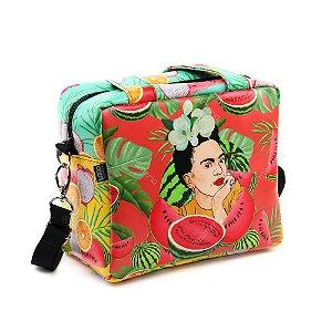 Bolsa Térmica Média Frida Kahlo Pitaia e Melancia Vermelha