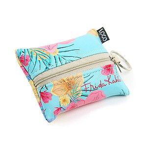 Eco Bag Dobrável Frida Kahlo Floral Azul