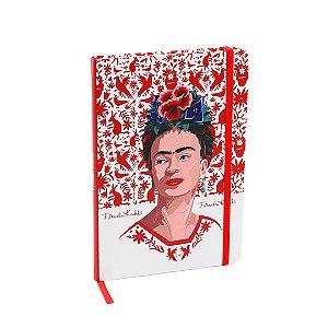 Caderno Médio com Elástico Frida Kahlo Pássaros Vermelhos