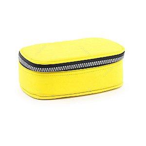 Estojo 100 Pens Box Jumbo Nylon Amarelo