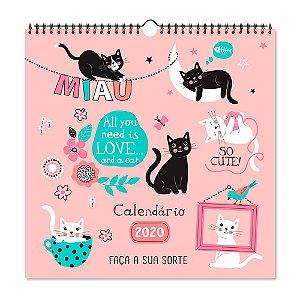 Calendário de Parede 2020 Decorado Gatos