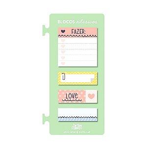 Kit Blocos Adesivos de Notas Verde