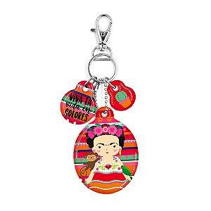 Chaveiro Resinado Frida Colores