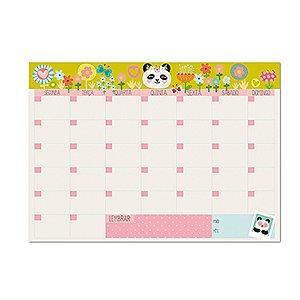 Bloco Planner de Mesa Mensal Panda