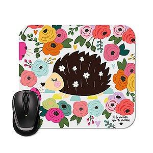 Mouse Pad Porco Espinho Floral