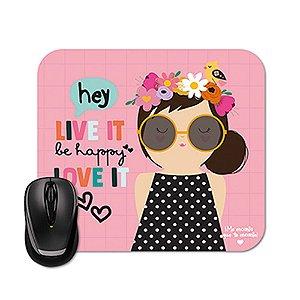 Mouse Pad Happy Hey Menina