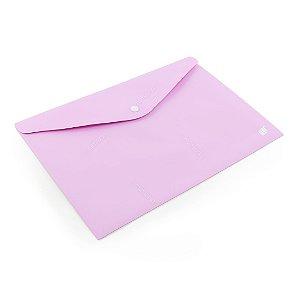 Pasta Envelope com Botão Horizontal A4 Lilás