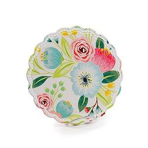 Descanso de Panela em Cerâmica para Mesa Flores Coloridas