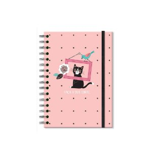 Caderno Clássico Decorado Gatos