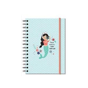 Caderno Clássico Decorado Sereias