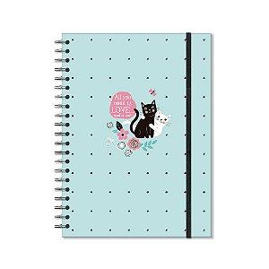 Caderno Universitário Gatos 96 Folhas