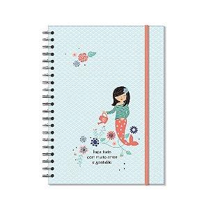 Caderno Universitário Sereias 96 Folhas