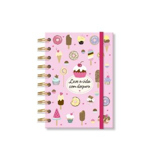 Caderneta Estampada Docinhos